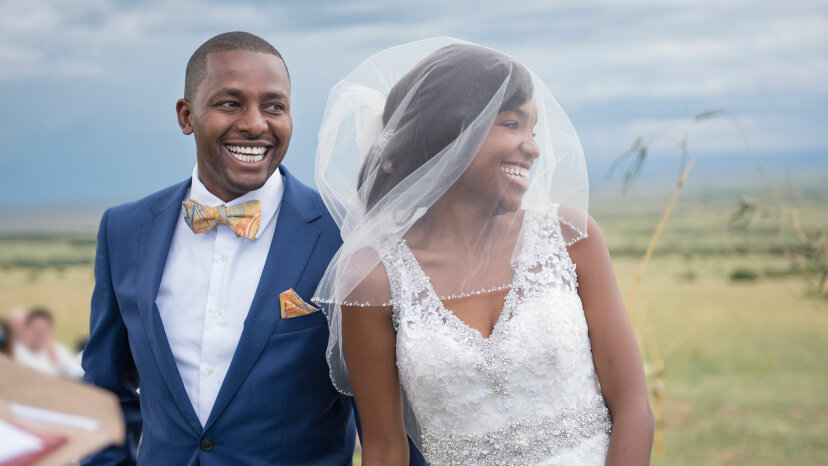 black couple just married