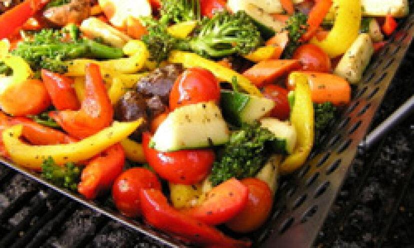 完璧に焼き上げた冬野菜10個