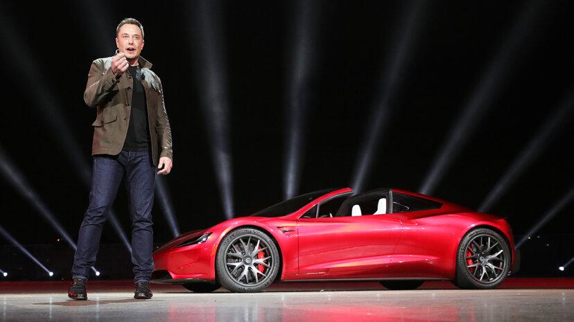 Elon Musk Tesla Roadster