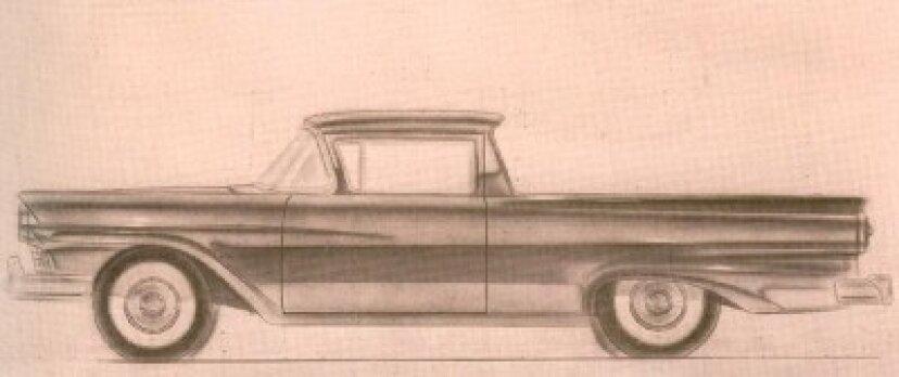 1957年、1958年、1959年のフォードランチェロの紹介