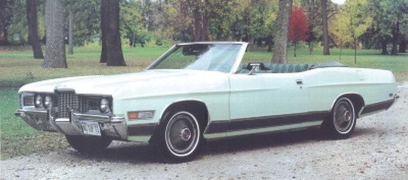 1971年フォードLTDコンバーチブルクーペ