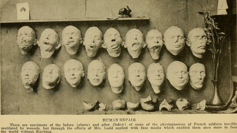 Anna Coleman Ladd, masks