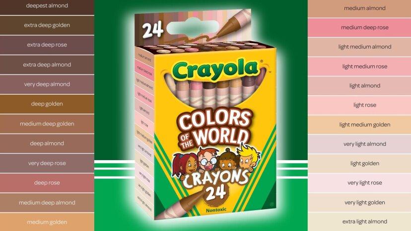 クレヨラがすべての色の子供向けの新しいクレヨンを発表