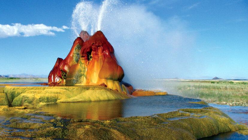 El Fly Geyser de Nevada es una maravilla artificial