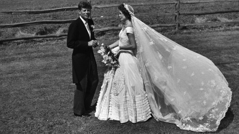 JFK and Jacqueline Bouvier wedding