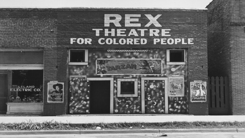 colored only theater