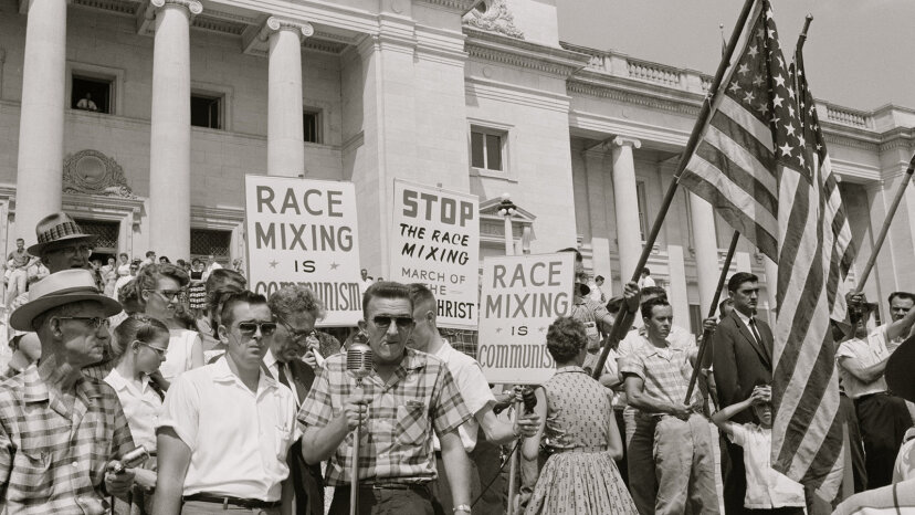 Little Rock Nine protesters