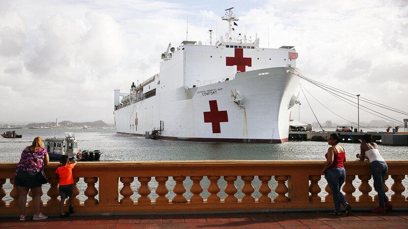 海軍の船の快適さがプエルトリコをどのように支援しているか