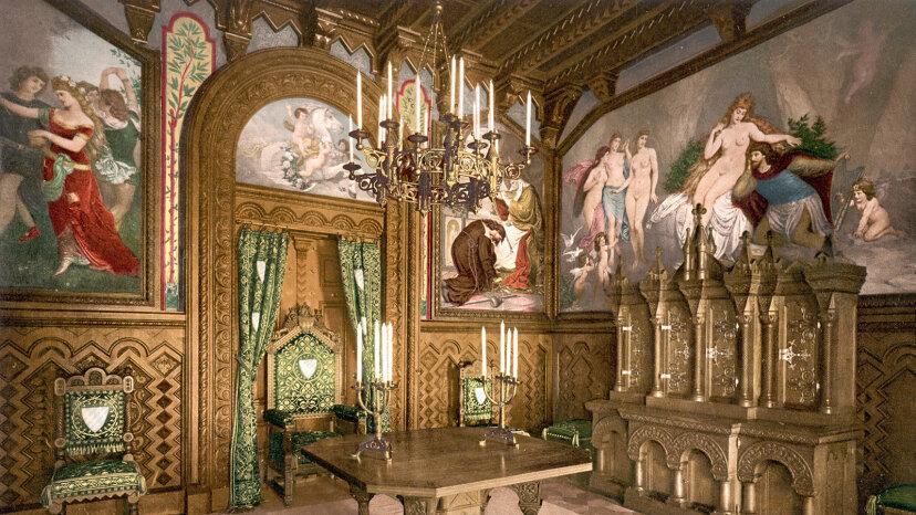 The study at Neuschwanstein Castle..