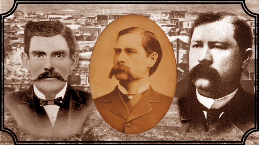 """Doc"" Holliday, Wyatt Earp and Virgil Earp"