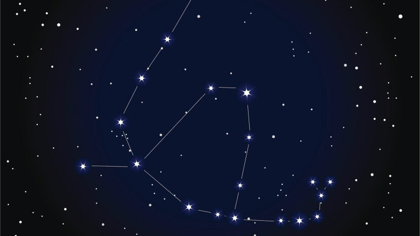 The constellations Ophiuchus and the Serpent