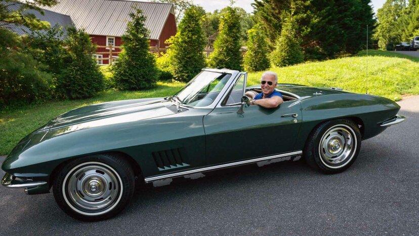 Joe Biden and corvette