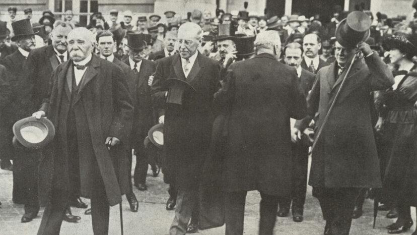 Georges Clemenceau, Woodrow Wilson, Lloyd George, Treaty of Versailles