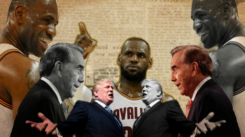 Bob Dole, LeBron James, Donald Trump