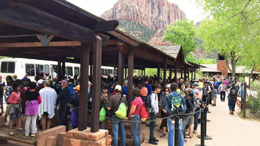 Zion Nationalpark von Touristen überrannt, RSVP könnte bald erforderlich sein