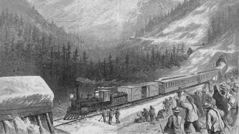 Chinese railroad workers, transcontinental railroad