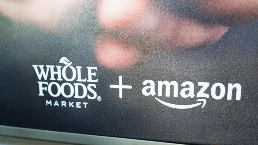 Whole Foods & Amazon sign