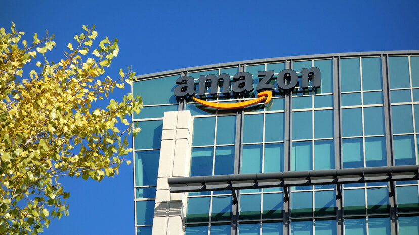 amazon corporate building with sign