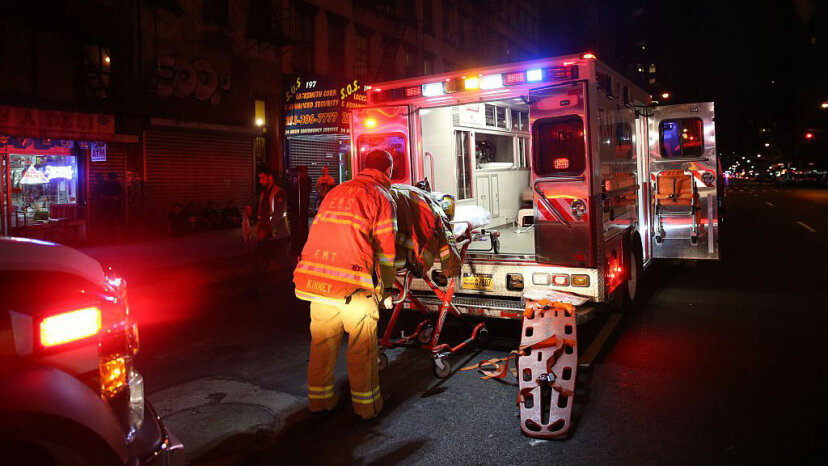 An ambulance arrives at the site of an explosion in the Chelsea neighborhood of Manhattan on Sept. 17, 2016 Mohammed Elshamy/Anadolu Agency/Getty Images