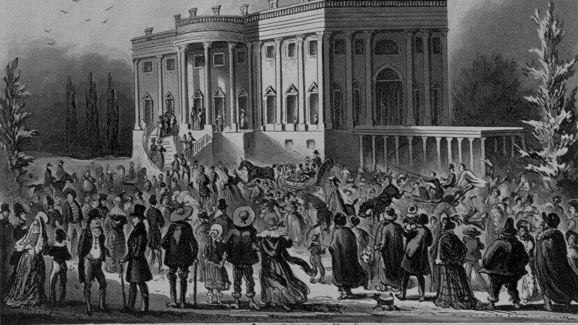 ホワイトハウスはアンドリュージャクソンの最初の就任式で本当にゴミ箱に入れられましたか?