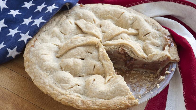 ¿Qué tiene de estadounidense el pastel de manzana?
