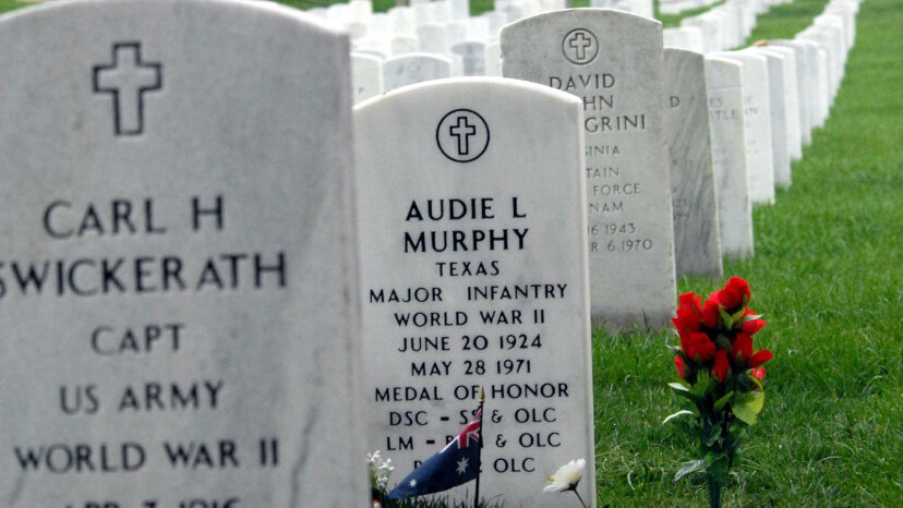 Audie Murphy headstone