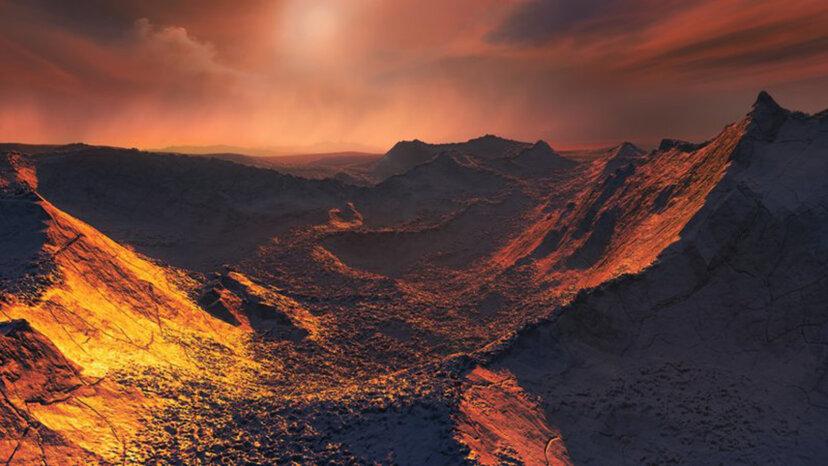 Barnard's Star b artist's impression