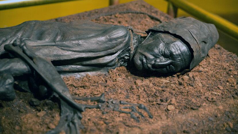 泥炭の沼は人間の遺骨を保存するのが非常に得意です