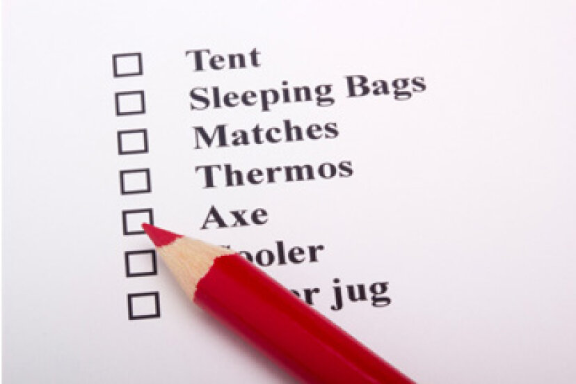 必須のキャンプチェックリスト