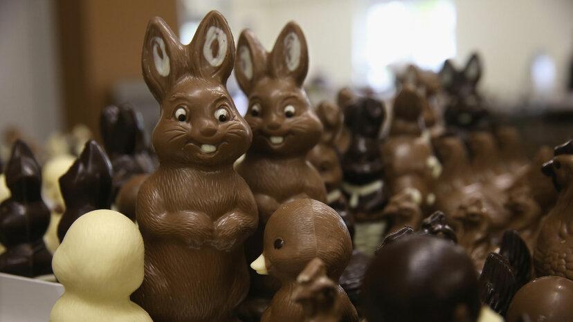 Chocolate Easter bunnies, Germany