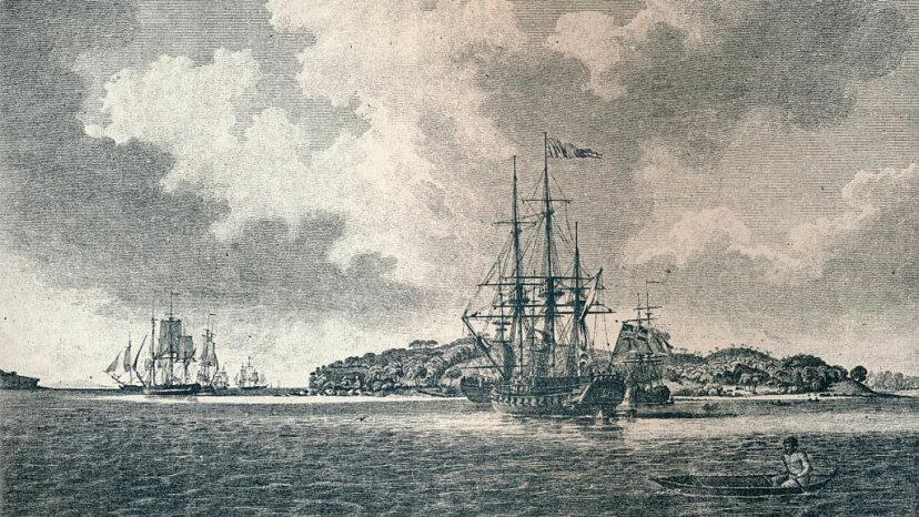 Botany Bay, ships