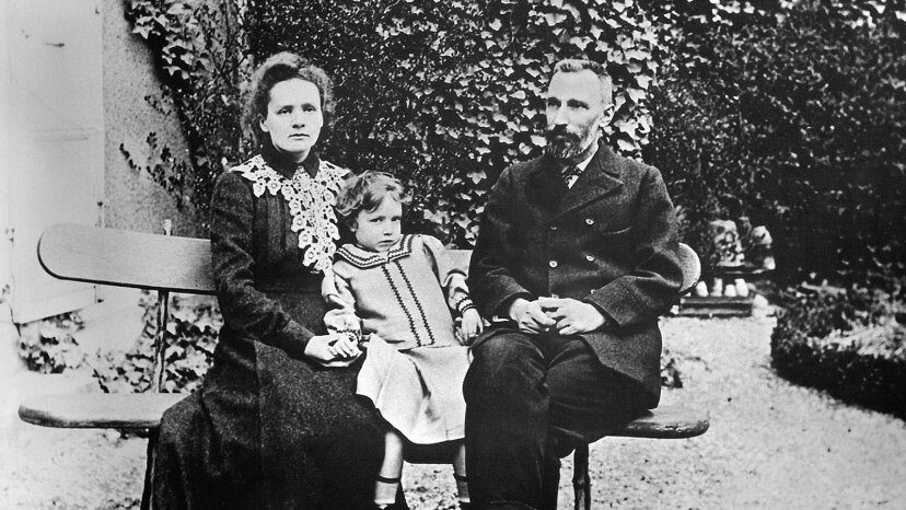 Marie, Pierre and Irene Curie
