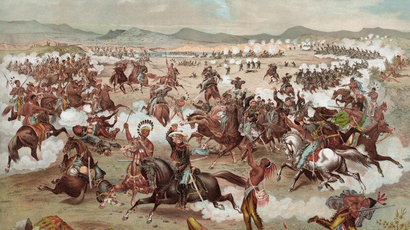Los anuncios de cerveza y los espectáculos del Lejano Oeste promocionaron el mito del heroico 'Last Stand' de Custer