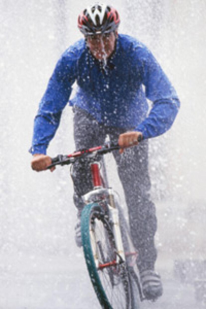 雨の中のサイクリングのしくみ
