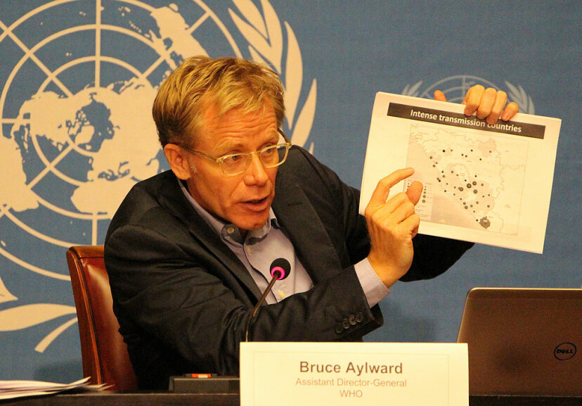 Bruce Aylward, World Health Organization assistant director-general, speaks during a press conference on the Ebola roadmap in Geneva, Switzerland. Data science has greatly helped with mapping diseases. Murat Unlu/Anadolu Agency/Getty Images