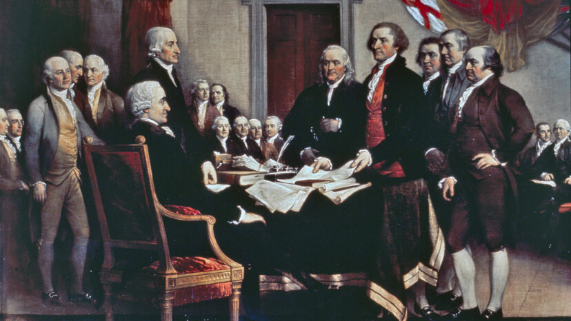 Declaration of independence painting, founding fathers