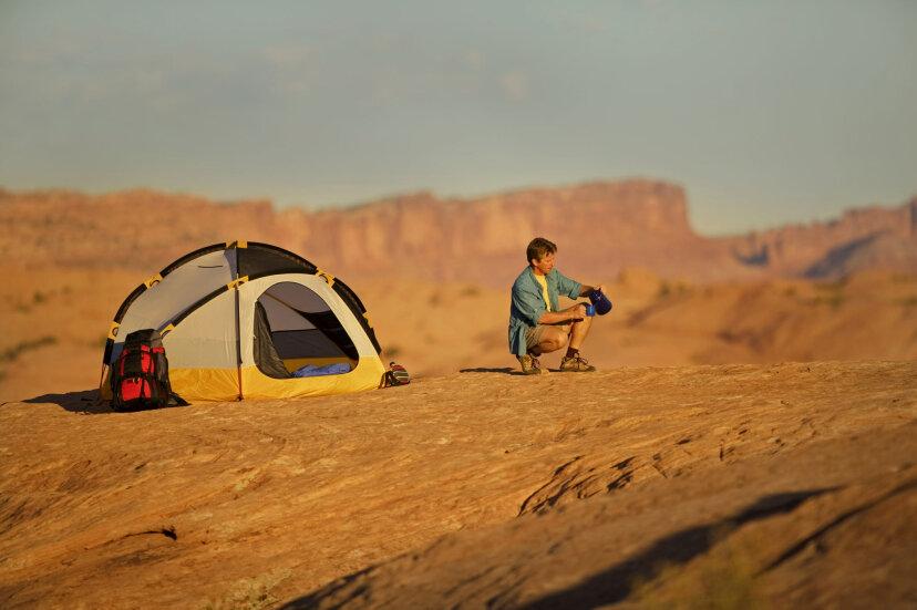 砂漠でのキャンプのしくみ
