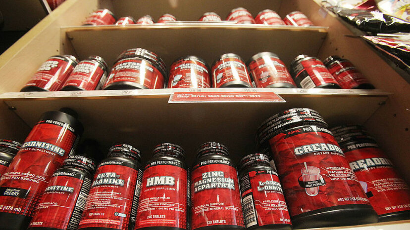 Supplements are displayed in a shop May 26, 2010, in New York City. A U.S. government probe into herbal and dietary supplements found that some contained contaminants and used false marketing claims. Mario Tama/Getty Images
