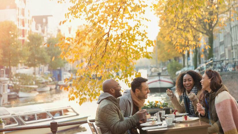 couples in Amsterdam café