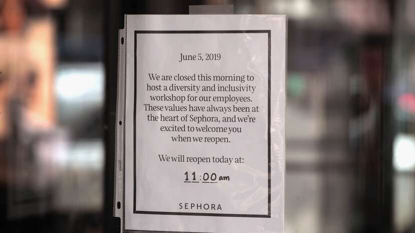 Sephora sign diversity training