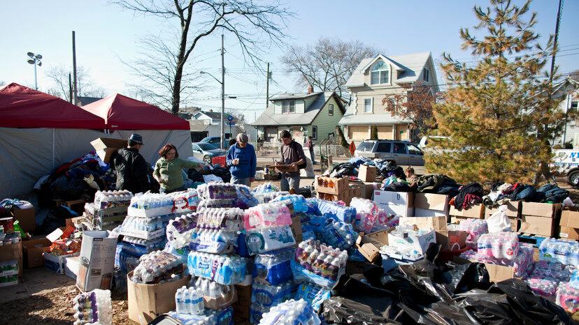 Superstorm Sandy donations