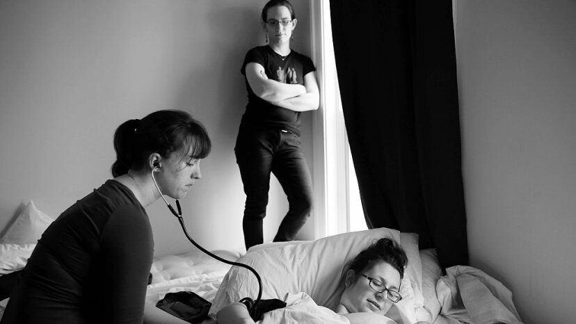 doula, midwife, mother