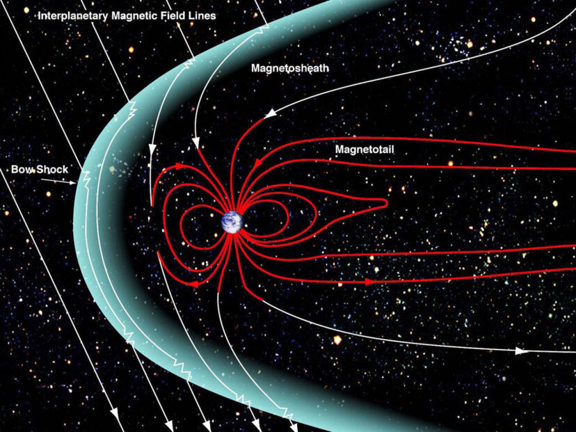 Illustration of Earth's magnetosphere