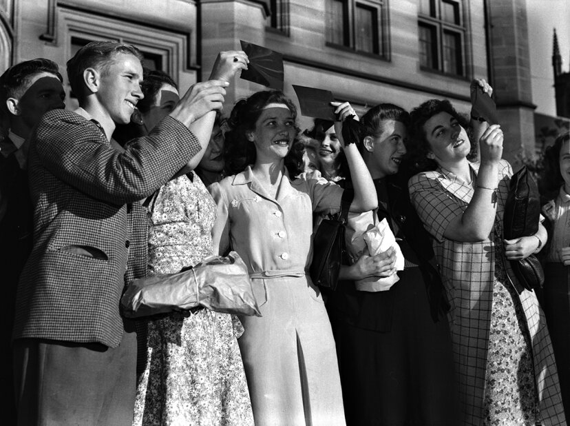 historical solar eclipse viewing