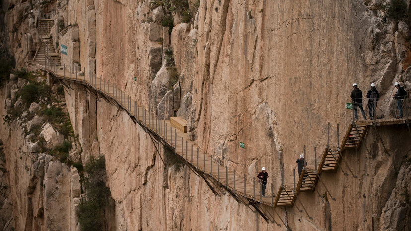 Caminata por el Caminito del Rey, que alguna vez fue la ruta más peligrosa del mundo
