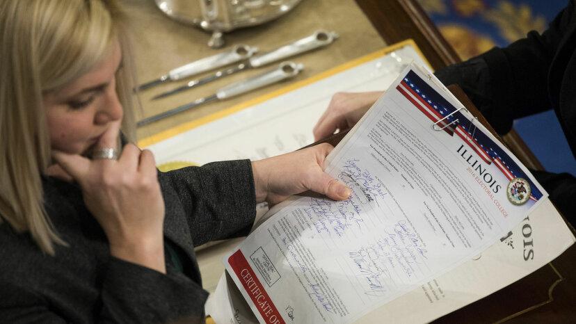 staff verify electoral college votes
