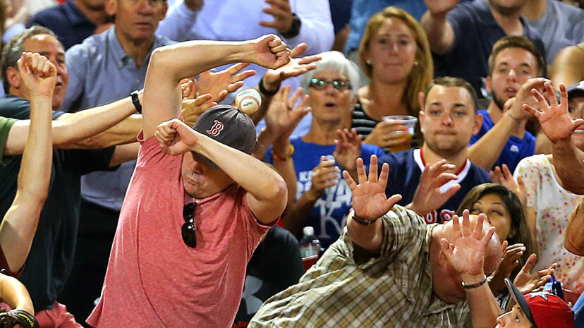 foul ball injuries baseball