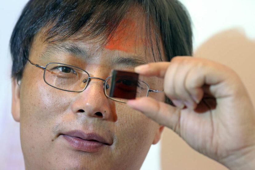 low-cost semitransparent perovskite solar cells