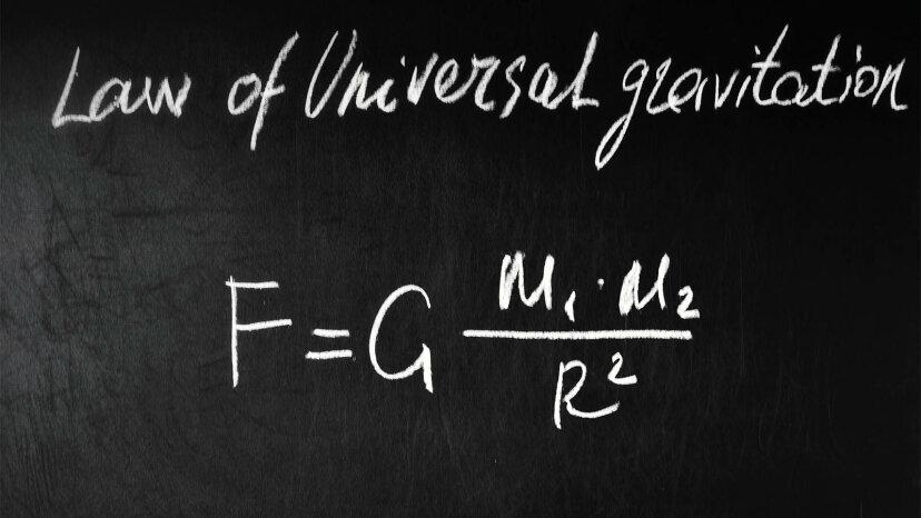 万有引力定数は、ニュートンの万有引力の法則における「G」です。