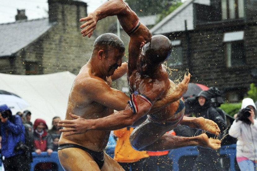gravy wrestling, lancashire